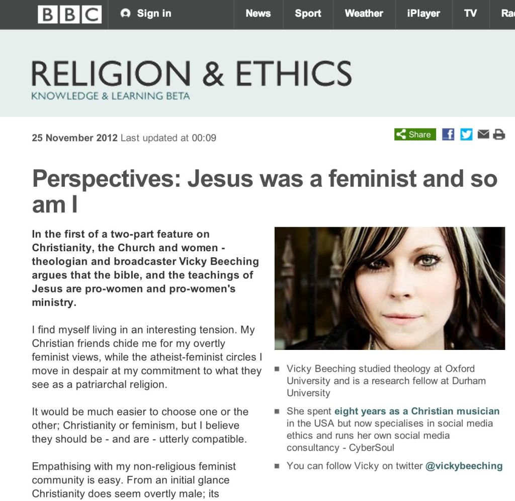 feminism vicky beeching com the website of vicky beeching feminism bbcreligion