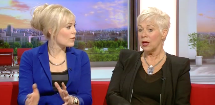 Vicky Beeching & Denise Welch, BBC Breakfast, Jan 23rd 2014
